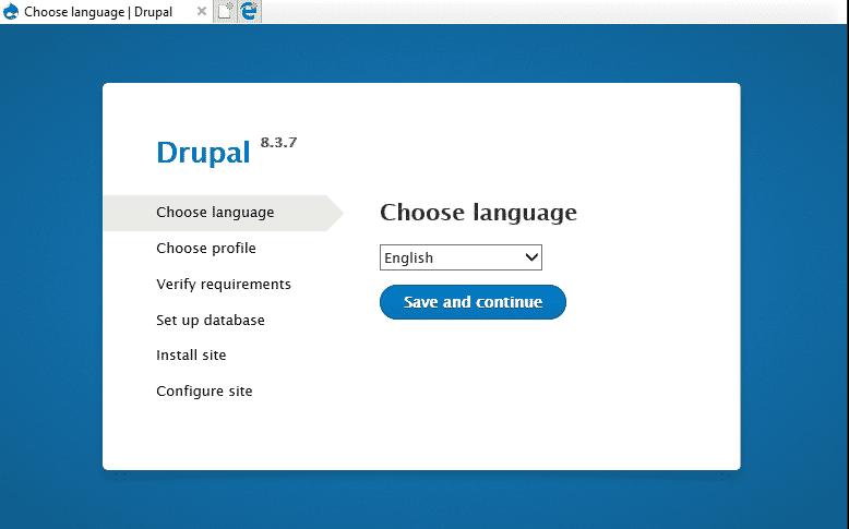 Cara Install Drupal