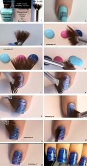 fan brush nail art