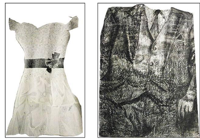 Dessin robe veston - Amélie Lamontagne - artiste - La Montagne Ô