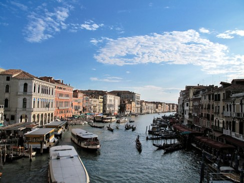 View of The Grand Canal from the Rialto Bridge - Venice, Italy