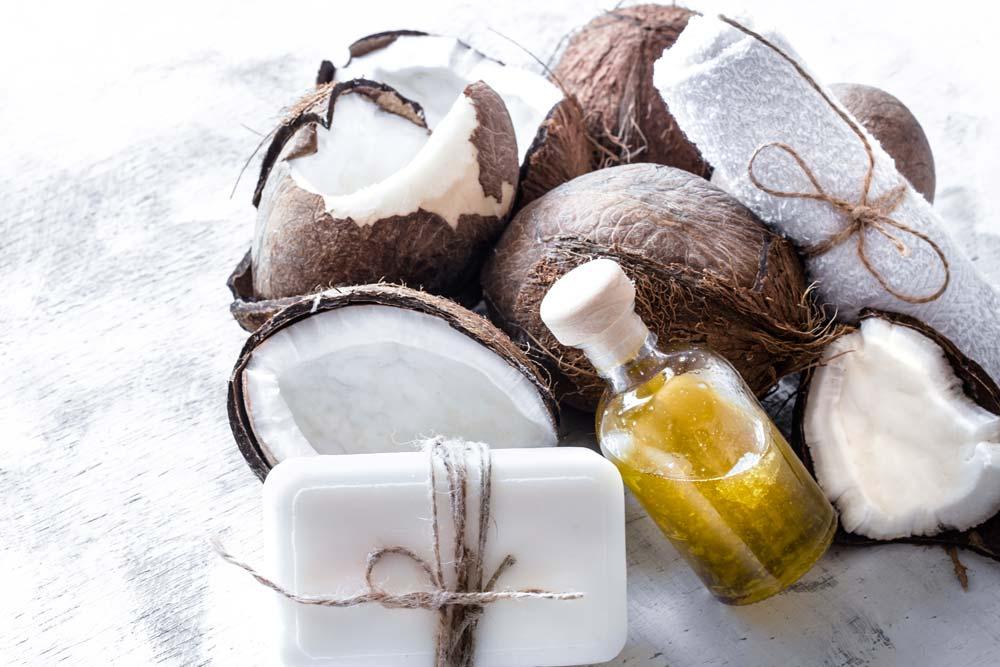 baño relajante de coco