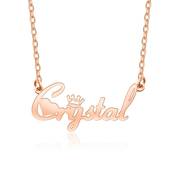 name necklace rose gold custom your name