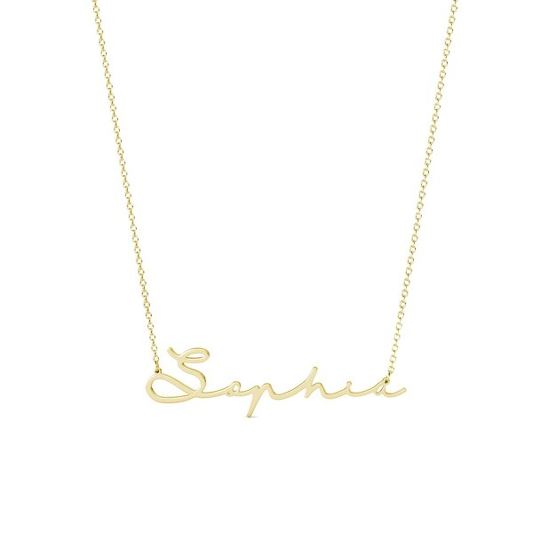 Sophie Style II Name Necklace 18k Gold Plated S925