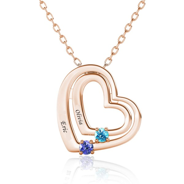 love style name necklace with name on it rose gold plated silver