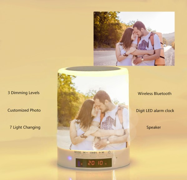 custom photo night lamp led alarm