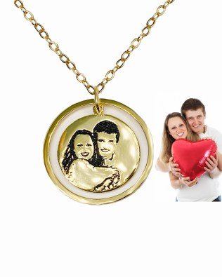 Luna Photo Necklace 18K Gold Plated S925