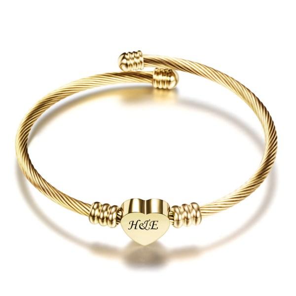 titanium steel bracelet engave