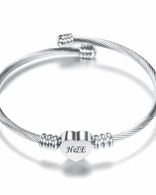Love Engravable Bracelets Titanium Steel