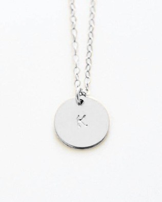 Engravable Coins Necklace Silver S925