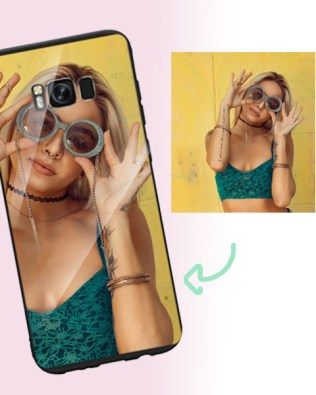 Samsung S8 Plus Custom Photo Phone Case Glass