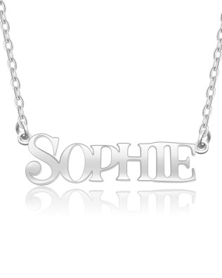 """SOPHIE""Style Name Necklace Platinum Plated Silver"