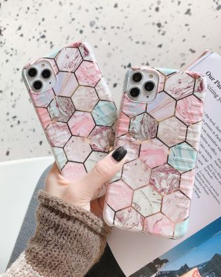 Marble Rainbow Phone Case