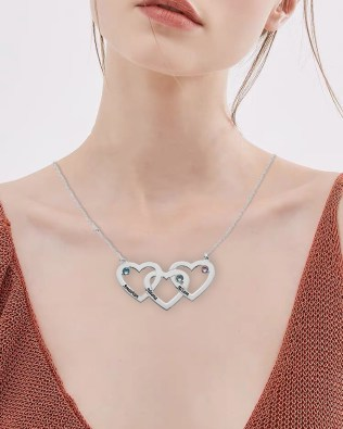 Heart Necklace Silver S925