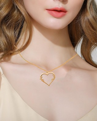 Single Heart Necklace Silver S925 Rose Gold Plated