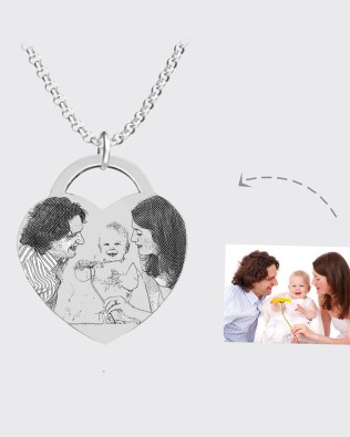 Photo Necklace Silver S925