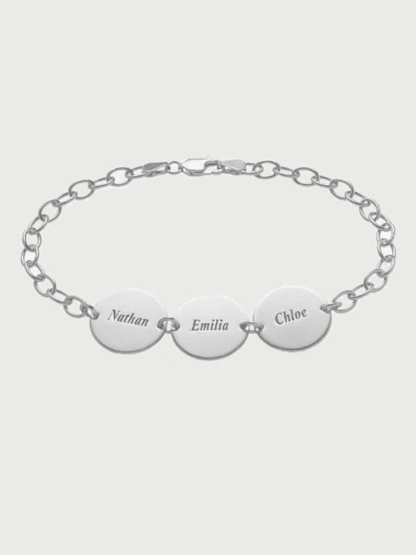 name bracelet silver engrave inscription