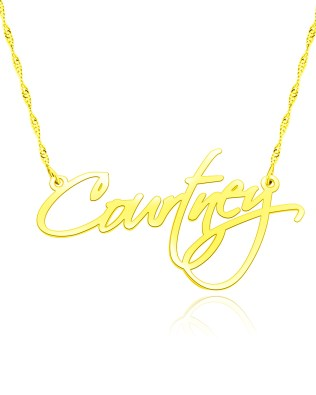 courtney name necklace 18k gold