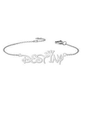 Personalized Destiny Style Name Bracelet Sterling Silver