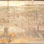 Vista de la ciudad de Anton Van der Wyngaerde en 1563