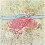 Plano de Zaragoza 1865