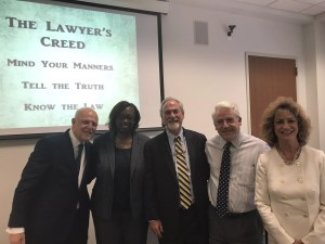 Frank Lamothe and Group at Tulane Law School