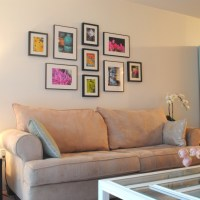 Gallery Wall (and How To Hang Ikea Ribba Frames)