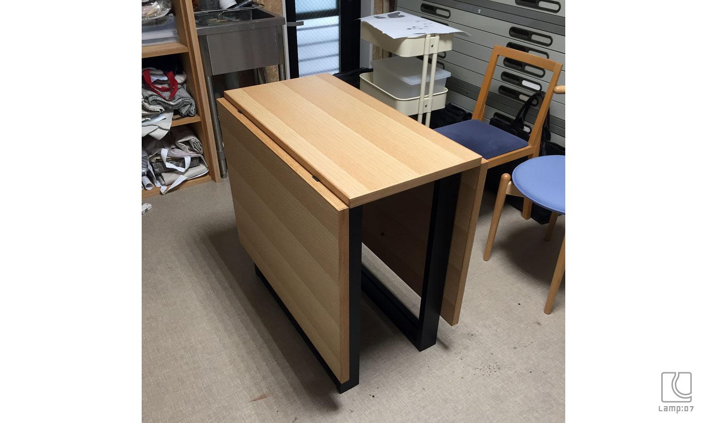 アイアン脚オーダーテーブル フォールディングテーブル/ナラ突板