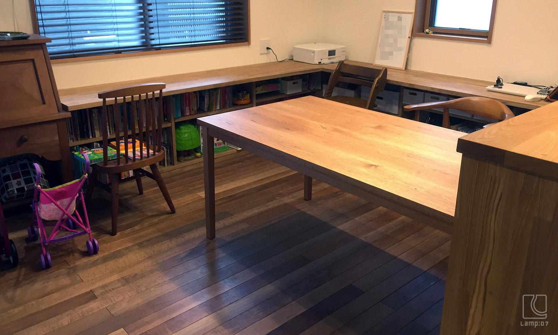 オーダーテーブル/クルミ無垢材