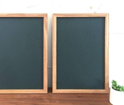オーダー黒板/ナラ無垢材フレーム