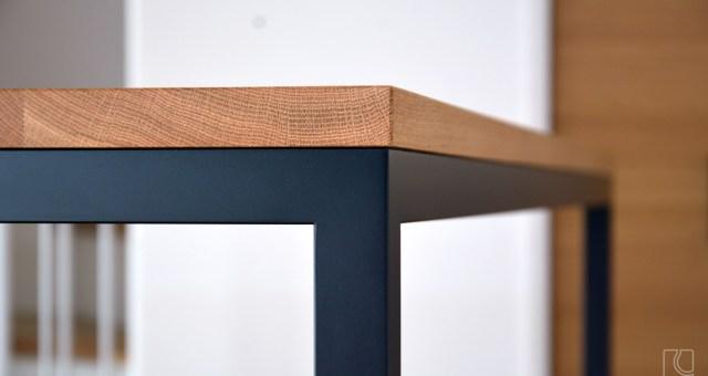 ナラ無垢材+アイアン脚テーブル