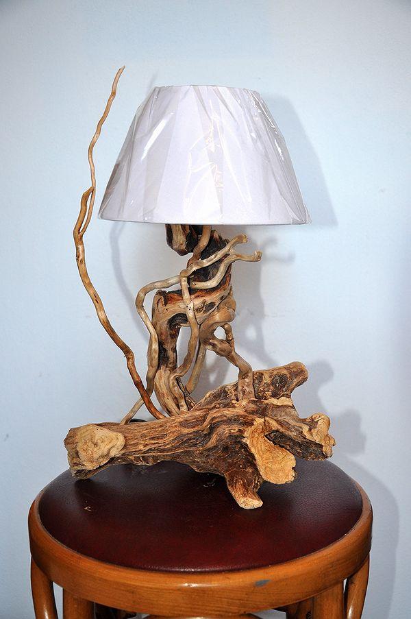 Lampade dal mare  Lampade artigianali artistiche legno