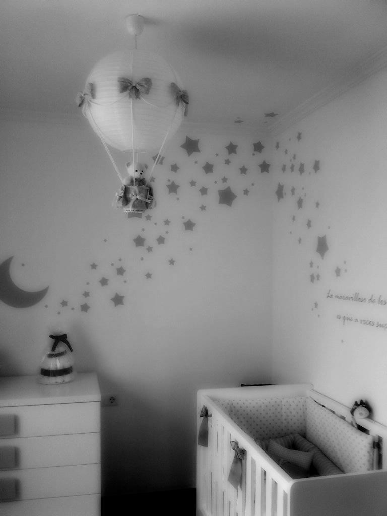 habitacion bebe lampara gris  Lmpara Globo Bebe