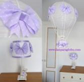 lampara-globo-bebe-lila-osito conjunto