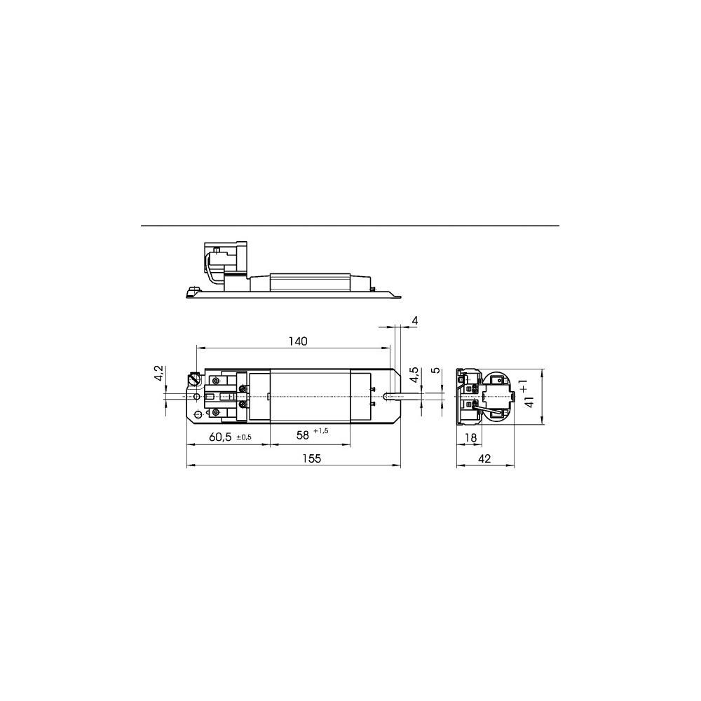 Ballast ferromagnétique L 7/9/11.141 230V/50Hz