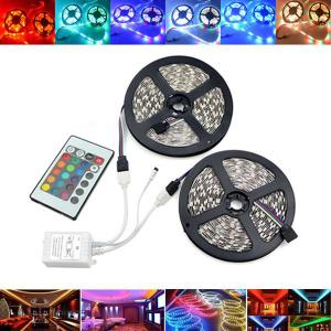 10M SMD2835 Waterdichte 600 LED RGB Strip Flexibele Tape Light Kit + 24 toetsen Afstandsbediening DC12V
