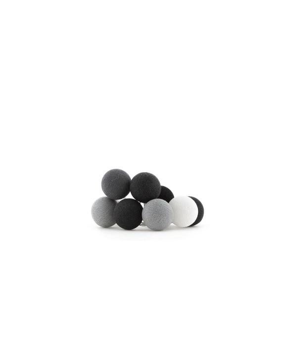 Cotton Ball Lights Regular lichtslinger grijs - Antra