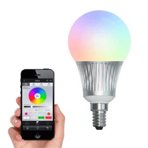 Milight RGBW Led lamp set met Wifi module 5 watt E14 fitting