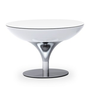 Moree Lounge Table 55 Wit Verlicht