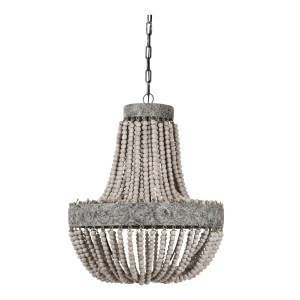 PTMD Hanglamp Kralen Luna Oud Wit 62 x Ø51