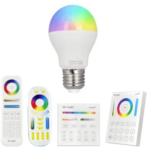 RGBW Wifi LED lamp set met afstandsbediening 6W E27