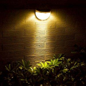 Solar buitenlamp Druppel wandlamp wit 6 leds zonne energie