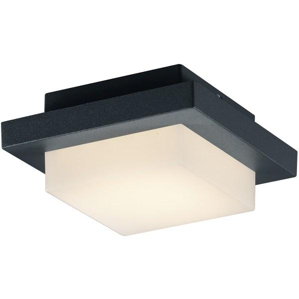 LED Tuinverlichting - Tuinlamp Plafond - Trion Hando - 3W - Mat Zwart - Aluminium