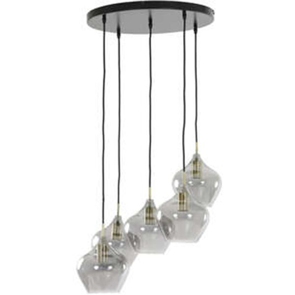 Hanglamp Rolf 5-lichts rond