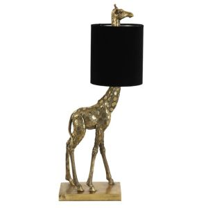 Tafellamp Giraffe goud/zwart