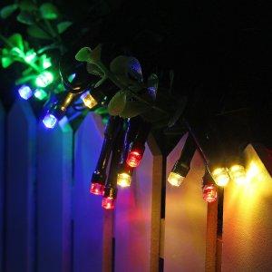 Zonne-energie Fairy Light 8 Modi IP65 Waterdichte Indoor Outdoor Kerstdecoratie Verlichting voor Huis Tuin Feest Slaapkamer Bruiloft DHZ Decoratie