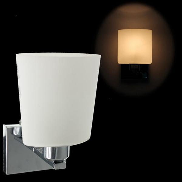moderne wandlamp e14 lampvoet glasvorm schans verlichting gang woonkamer
