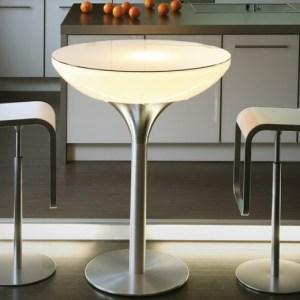 Moree Lounge Table 105 Wit Verlicht