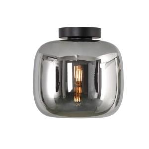 Artdelight Plafondlamp Preston Smoke Glas 24cm