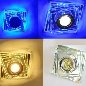 LED Einbaustrahler Blau GU10