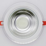 spot runde led glas downlight